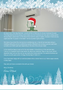 Think Big Electrical  Christmas 2015 Newsletter